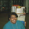 Library staff member Sylvia Hauser Thompson in the Children's Room.
