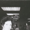 Library staff member Butch Allred at the beginning of the new automated circulation system, 1989.