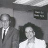 Ribbon-cutting for the library's new automated circulation system, 1989.