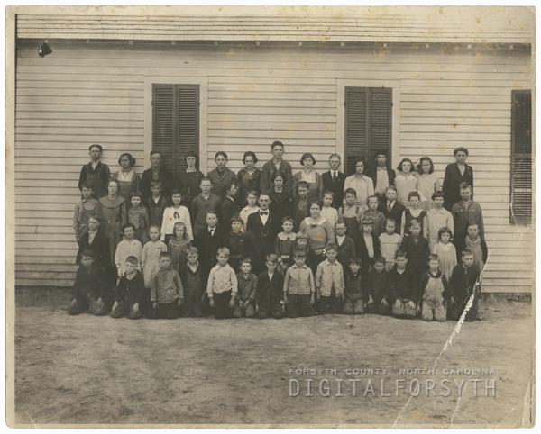 Blackburn Schoolhouse on Styers Ferry Road in Lewisville.