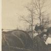 Sarah Norman, Ethel Pfaff and Ernest Pfaff at the Shallowford on the Yadkin River, 1906.