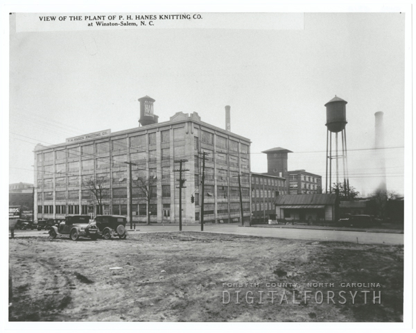 P. H. Hanes Knitting Company plants on North Main Street.