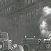 Fire on West Fourth Street beside the Nissen Building at the Variety Fruit Store, 1940.