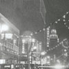 West Fourth Street looking east near Spruce Street at Christmas, 1938.