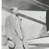 Mayor Thomas Barber and Colonel Charles Lindbergh at Miller Municipal Airport with the Spirit of St. Louis, 1927.