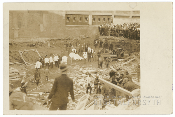 Collapse of the Urband Building at 411 North Main Street, 1927.
