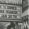 Marquee on the Carolina Theatre advertising the Mothers March for the March of Dimes, 1964.