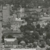 Aerial of Fourth Street, looking east from Brookstown Avenue.
