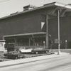 Benton Convention Center and parking lot, from Marshall Street, 1971.