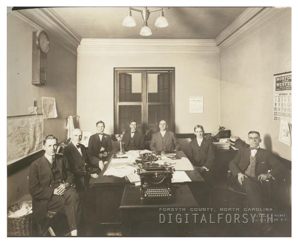 Members of the local draft board, 1918.