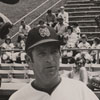 Bill Slack, manager of the Winston-Salem Red Sox, at center, 1973.