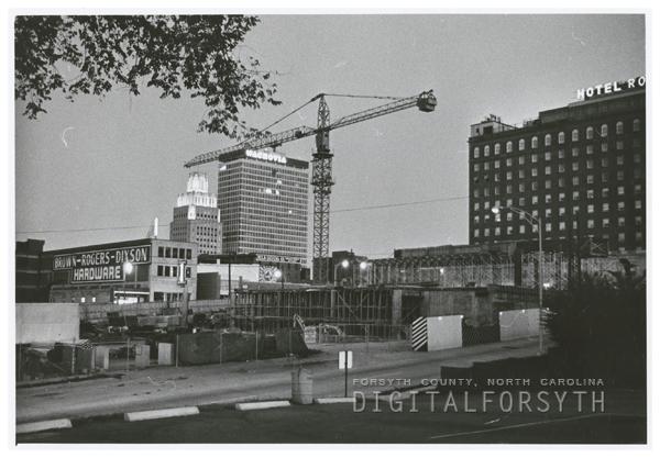 Construction of the Benton Convention Center, 1968.