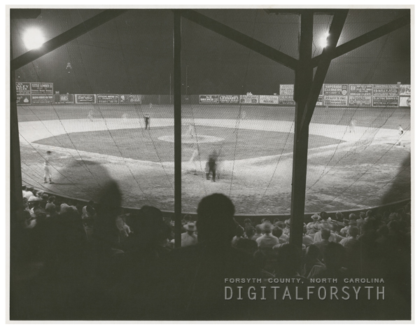Winston-Salem Cardinals baseball game at Southside Ballpark, 1950.