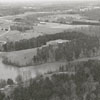 Aerial of the Reynolda Estate, Reynolda Road, and the site where Wake Forest College was built.