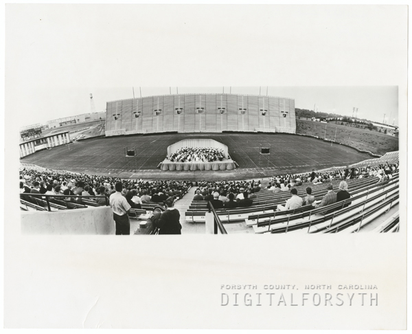 Concert held in Groves Stadium, 1970.