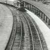 Circus train pulling into Union Train Station, 1970.