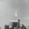 Bob Thompson with a sand pump on the Yadkin River, 1970.