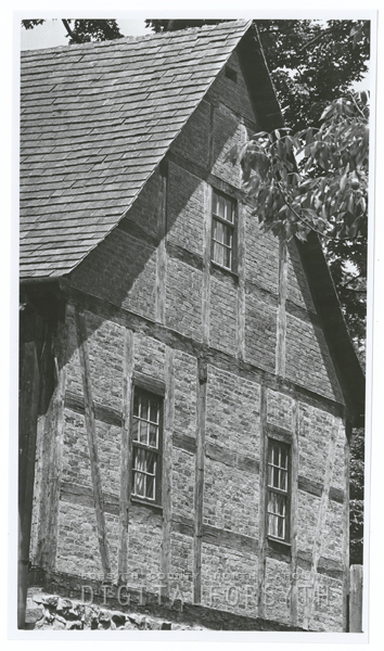 The side of the First House (Salem) on S. Main Street, 1970.