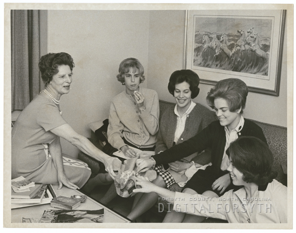 Mildred Turner, Anne Cheeves, Susan Rabenhorst, Kay Sutton, and Libby Johnson, 1969.
