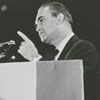 George Wallace speaking during a trip to Winston-Salem, 1968.