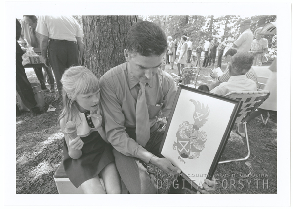 Carolynne and Ray Shore at the Shore family picnic, 1971.