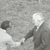 Frank Spencer, sports writer for the Winston-Salem Journal, honored in 1971.