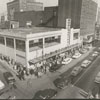 Wide view of Fourth Street at Spruce Street, 1956.