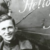 """Belvin Wooten Maynard, in front of his airplane, called """"Hello Frisco."""""""
