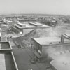 Wide-angle view of the dust settling from the implosion of Hotel Robert E. Lee, 1972.