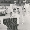"Kernersville Wesleyan Academy students ""walk for Jesus,"" 1972."