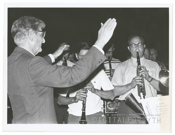 Retirement of Austin Burke as director of Salem Band for 30 years, 1972.
