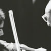 Violinist Joseph Genualdi and composer Aaron Copeland, in concert, 1971.