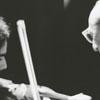 Violinist Joseph Genualdi and composer Aaron Copeland, in concert, 1971.