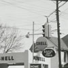 Quality Oil Company. Shell Service Station at 1201 E. Fifth Street at Cleveland Avenue.