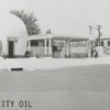 Quality Oil Company. Shell Service Station at 1036 S. Marshall Street at Park Avenue, 1930.