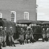 National Guard members gather to leave for summer camp at Ft. McClelland, Alabama, 1939.