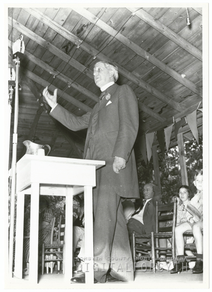 Governor Clyde Hoey at the Masonic Picnic in Mocksville, 1939.