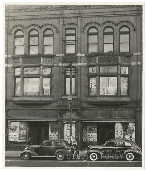 Hanes Building in the 300 block of N. Liberty Street, 1939.
