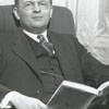 Charles B. Adams, assistant minister of Calvary Moravian Church, 1938.