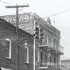 Buildings near the intersection of Brookstown Avenue and Burke Street, 1954.