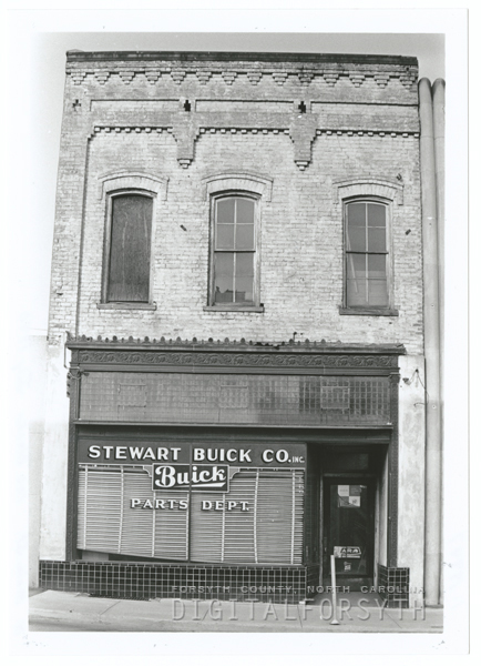 Former Stewart Buick Company building in the 100 block of N. Main Street, 1970.