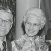 Reid Holmes, Dr. William K. McGee, Mrs. Velma McGee, and Dr. Perry Crouch, 1972.