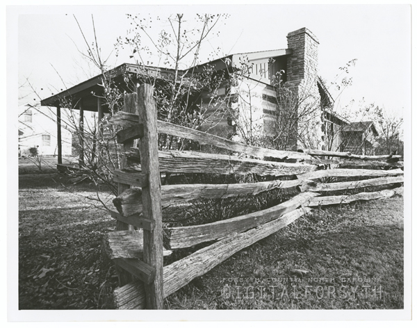 The Kellum cabin on the property of Glenn McGee in King, 1967.