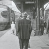 Train riders at the Union Train Station as they depart for an excursion to Raleigh, 1967.