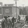 Construction on South Marshall Street to remove the bumps around the railroad tracks, 1967.