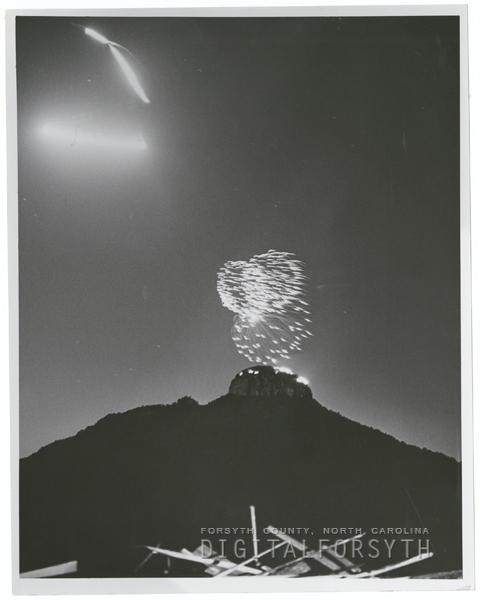 Fireworks at Pilot Mountain, 1967.