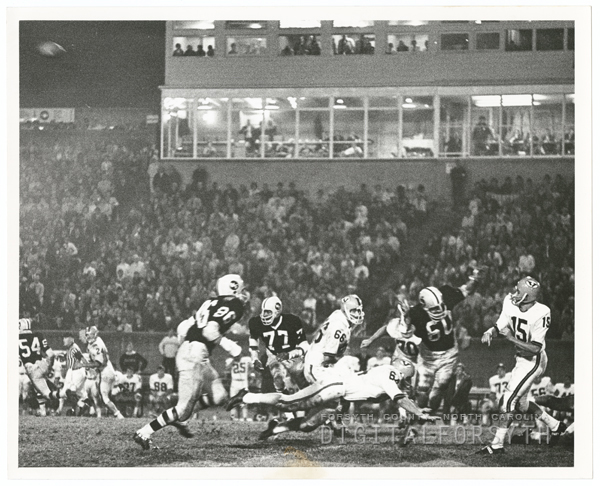 Wake Forest playing University of Virginia in football at Bowman Gray Stadium, 1967.