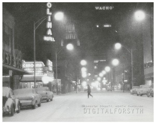 West Fourth Street at Marshall Street in the snow, 1966.