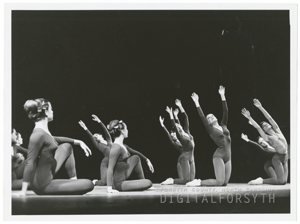 Modern dance by the School of the Arts students, 1966.