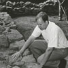 Brad Rauschenberg at Old Salem restoration, 1966.